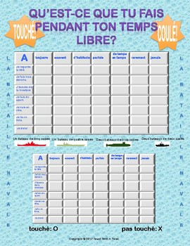 Differentiated French Battleship game - Adverbs of Frequency - Bataille Navale