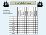 French Battleship Speaking activities templates- conjugati
