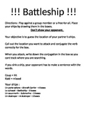 French Battleship for ER and IR Verbs