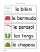 French - Beach Word Wall Cards