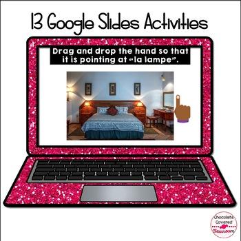 French Bedroom Digital Interactive Activities