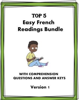 French Beginner Reading Bundle - 6 Lectures en Français at 35% OFF! (Version 1)