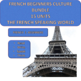 French Beginners Culture Bundle - 15 thematic units