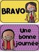 French Behaviour (Behavior) Management Clip Chart (Échelle de comportement)