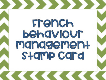 French Behaviour Management Stamp Card
