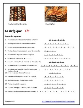 """French – Belgium (Culture) """"stations"""" activities"""