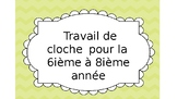 French Bell Work for Grade 6-8 Core French