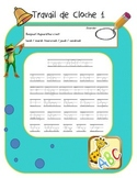 French Bellwork (80 pages) French travail du matin, travai