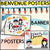 3 POSTERS - French Bienvenue set - Welcome classroom displ