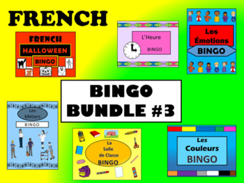 French Bingo Bundle #3 –  6 MORE French Bingo Games