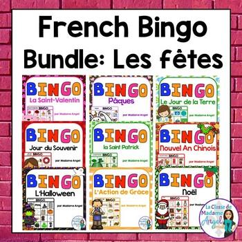 French Bingo Bundle:  les fêtes