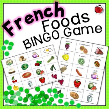 French  Bingo Game - Foods