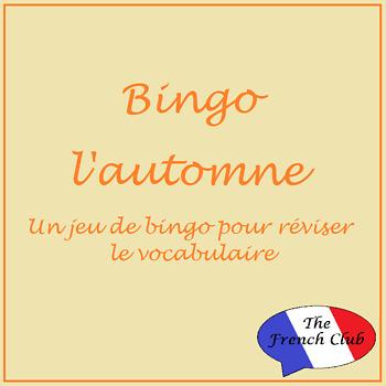 French Bingo Game - version Automne
