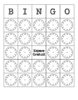 French - Bingo - Time