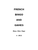French Bingo and Word Games Puzzles