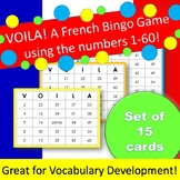 French Bingo using numbers 0 to 60 - set of 15 cards (Voil