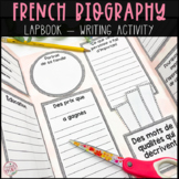 French Biography Non-Fiction Writing Lap Book - Biographie