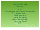 French Biography Poem