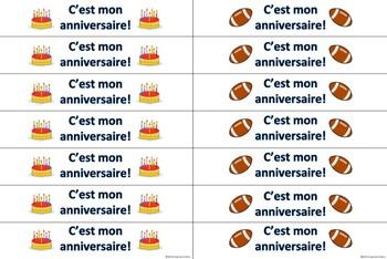French Birthday Brag Tag Bracelets 5 Designs - Mon Anniversaire