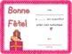 Birthday Certificates {French}