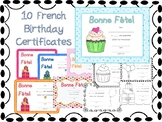 Birthday Certificates {French}