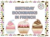 French: Birthday Bookmarks