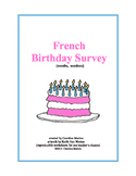 French Birthday Survey (months, numbers)