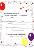 French Birthday invite 1 of 6-Writable PDF & Printable