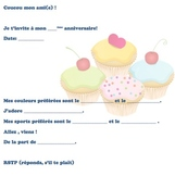 French Birthday invite 2 of 6-Writable PDF & Printable