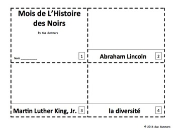 French Black History Month 2 Emergent Reader Booklets