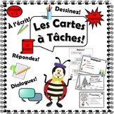 French: Black and White Task Cards Grades 4-6