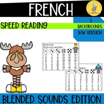 French Blended Sounds Reading Game I roll the dice