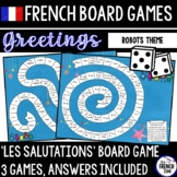 French Board Game: Greetings Les Salutations