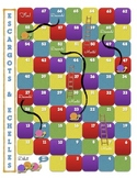 FREE French Board Game Template - Snails and Ladders (Snakes and Ladders)
