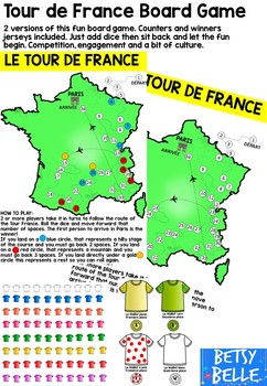 French Board Game: Tour de France