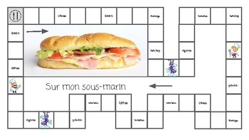 French Board Game (food):  jeu du sous-marin