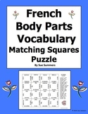 French Body Parts 4 x 4 Matching Squares Puzzle