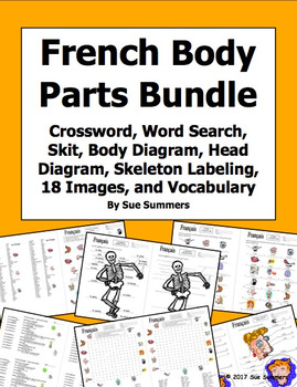 French Body Parts Bundle - Crossword, Word Search, Skit, Image IDs, 3  Diagrams
