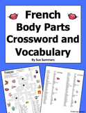 French Body Parts Crossword Puzzle and Image IDs Worksheet