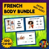 French Body Parts Boom Cards, French Digital Flashcards, F