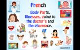 French – Body Parts, Illnesses, Chez le médecin and À la p