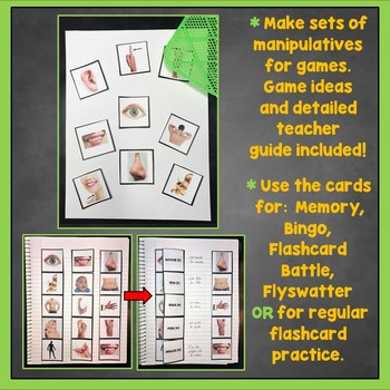 French Body Parts Flashcards, Interactive Notebook, Les Parties du corps
