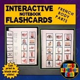 French Body Parts Flashcards, Interactive Notebook, Les Pa