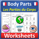 French Body Parts Worksheets (Les Parties du Corps)