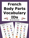 French Body Parts Vocabulary 18 Image IDs Worksheet