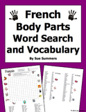 French Body Parts Word Search Puzzle and Image IDs Worksheet