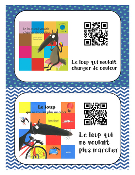 French Books Read Aloud - QR Codes