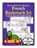 French Bookmarks - Color a New One Each Month!
