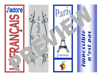 French Bookmarks - Signets français