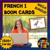 French Boom Cards, French 1 Digital Flashcards, Boom Cards French